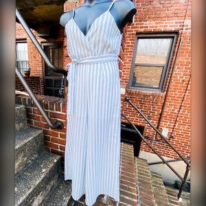 Maxi Jumper Blue/White Vertical Stripes